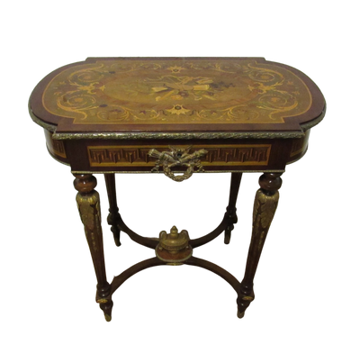 Victorian Marquetry Ladies Jewellery And Vanity Table