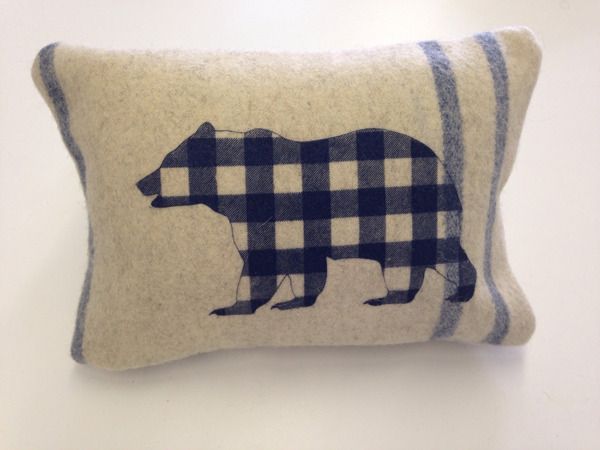 Cream Bear 'Lumber' Cabin Pillow