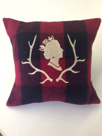 Red Plaid Queen Cabin Pillow
