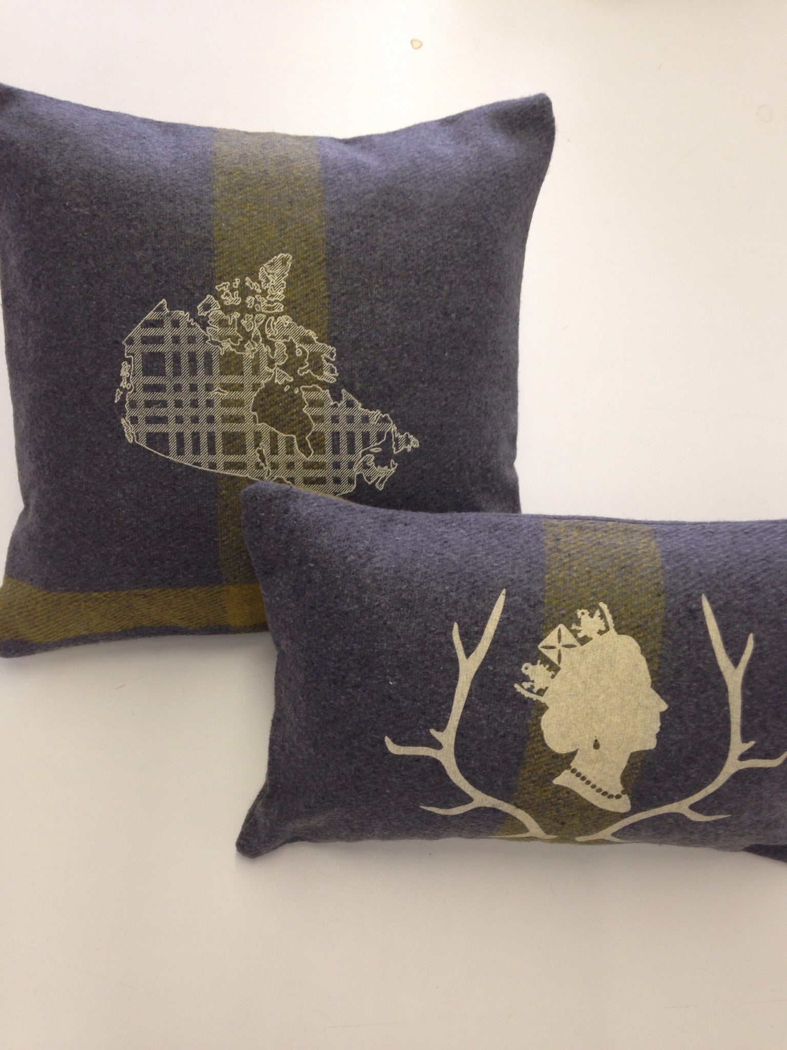 Grey Queen 'Lumber' Cabin Pillow