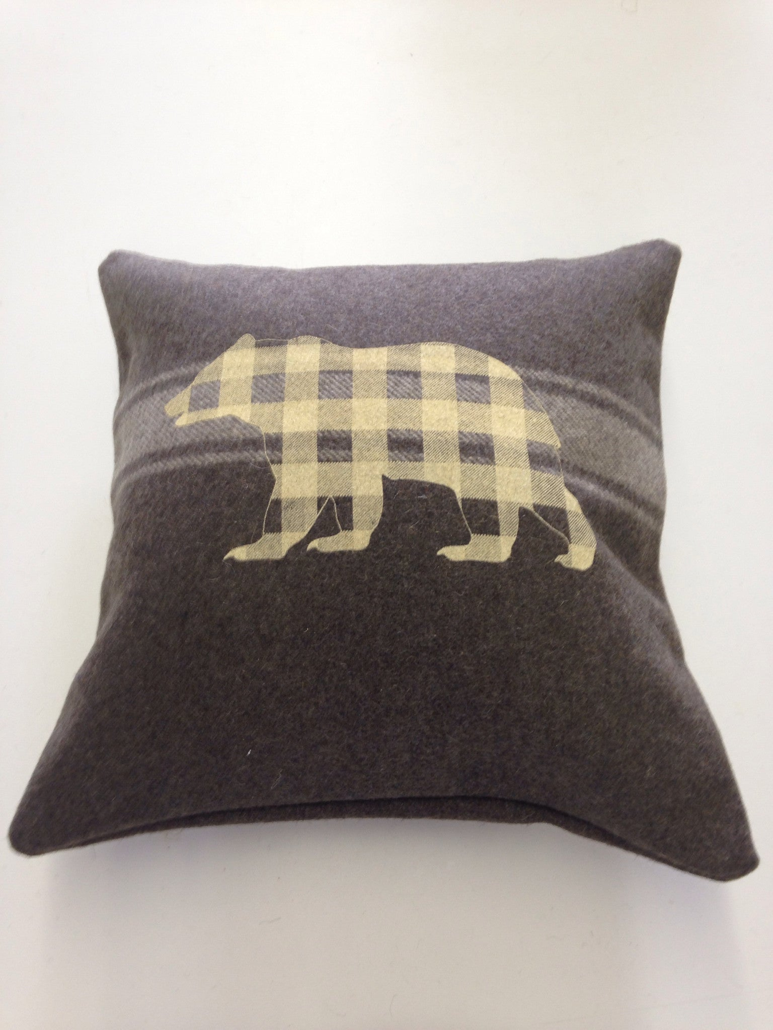 Army Green Bear Cabin Pillow
