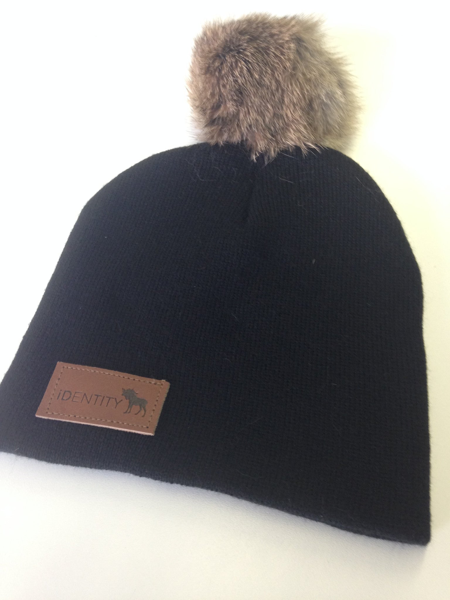 Little Lumberjack Pom-Pom Toque Black