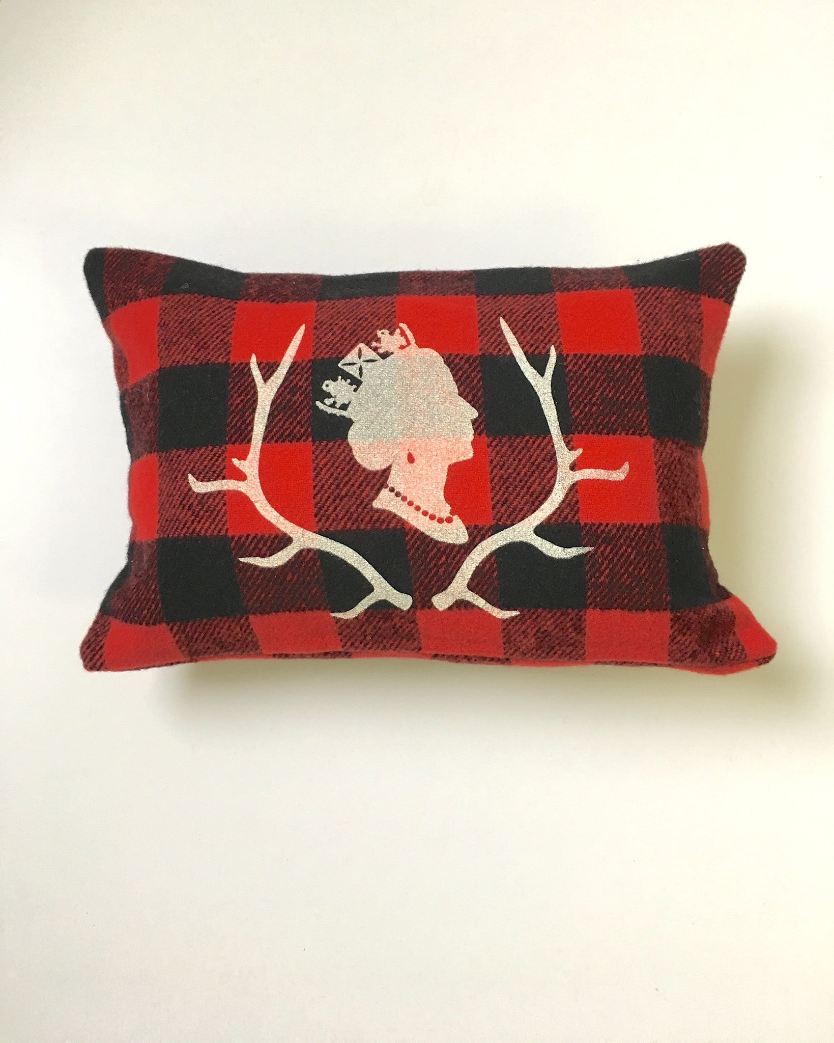 Red Plaid Lumber Queen Pillow