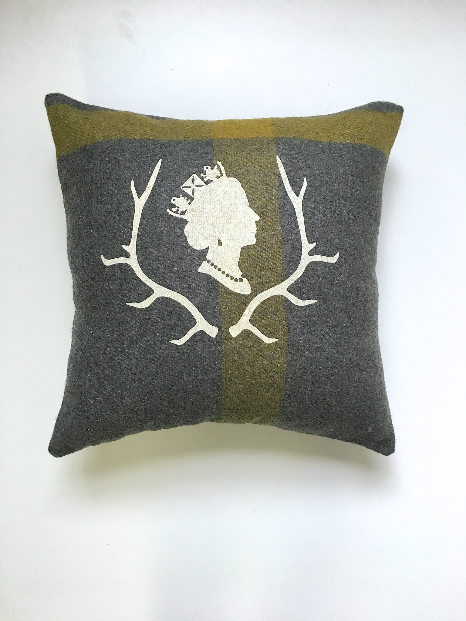 Grey Queen Cabin Pillow