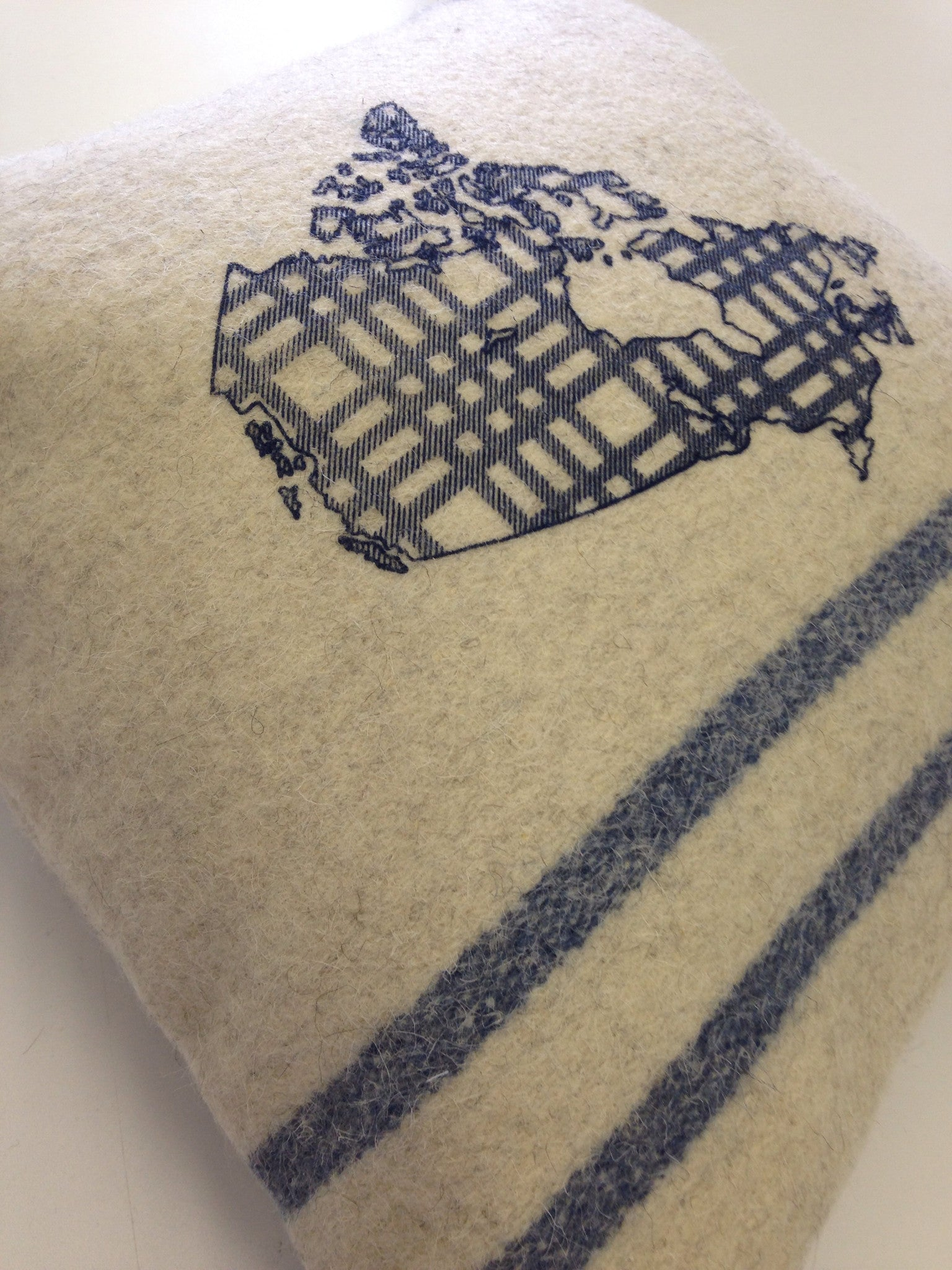 Cream Map Oh Canada Cabin Pillow