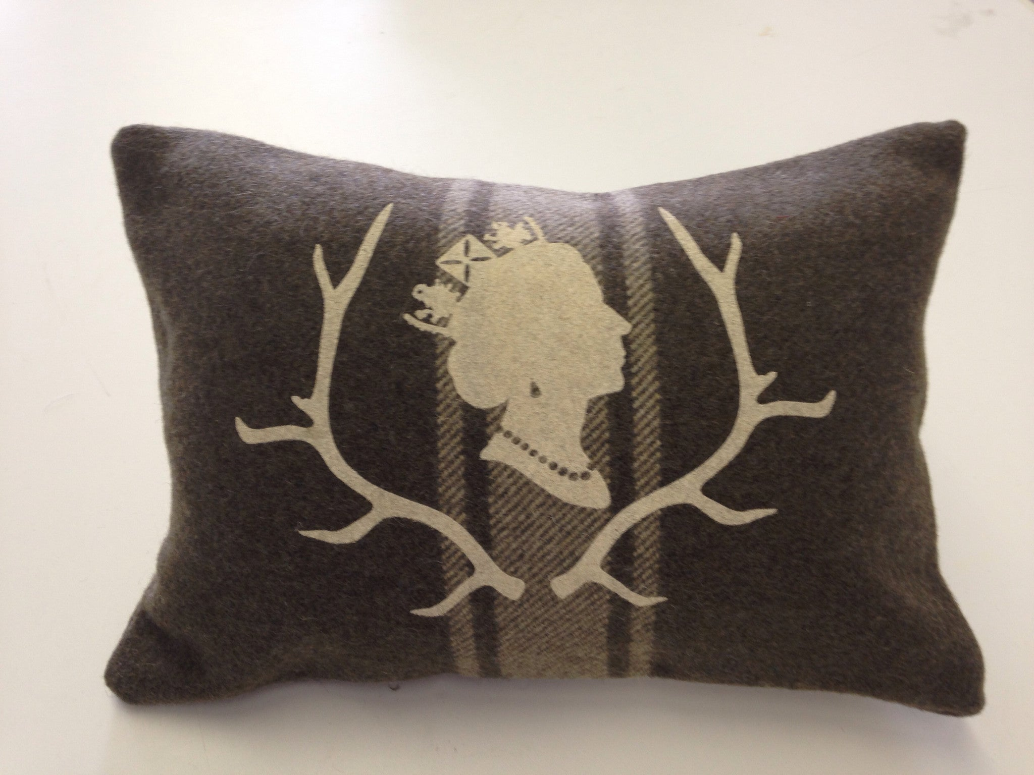Army Green Queen Lumbar Cabin Pillow