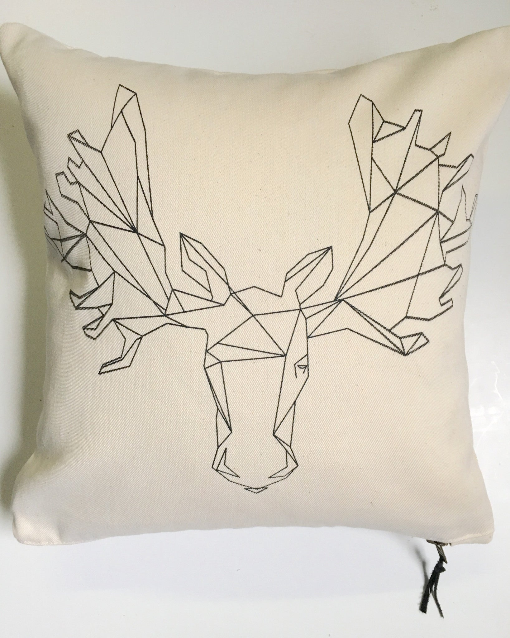 Geometric Moose Pillow