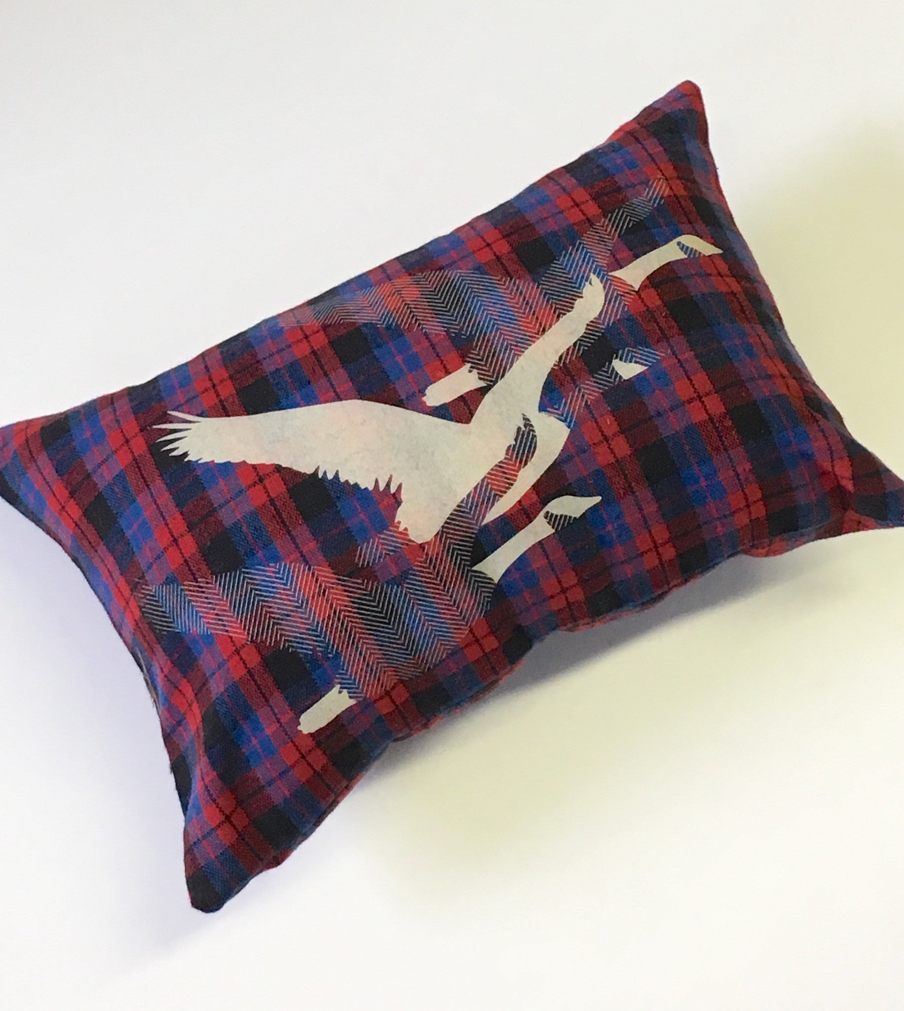 Migration Plaid Pillow
