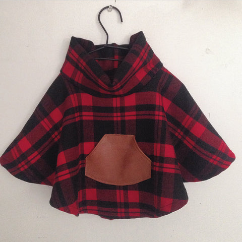 Toddler Plaid Poncho