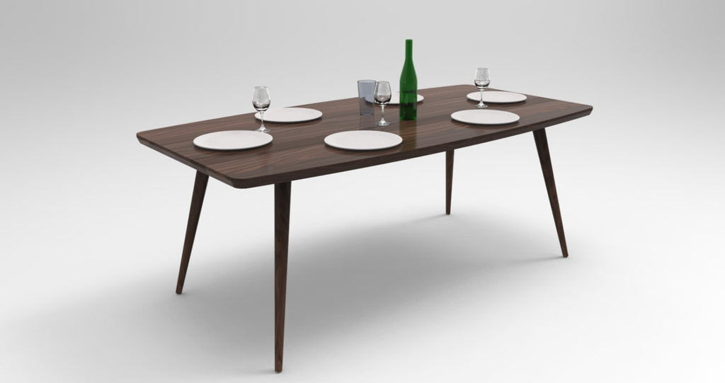 Mid Century Solid Walnut Dining Table JeremiahCollection
