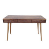 NEW Solid Walnut Veneer on American Made Plywood Mid Century Desk with Cord Management