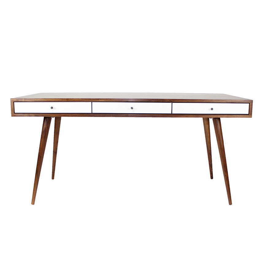 Mid Century Desk with Cord Management Free Shipping and Delivery! - JeremiahCollection - 1