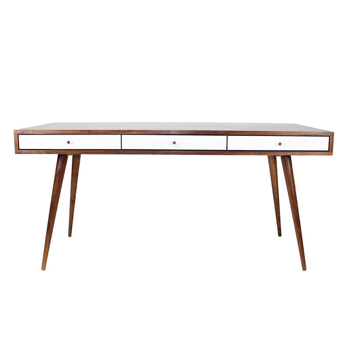 Mid Century Desk with Cord Management - JeremiahCollection - 1