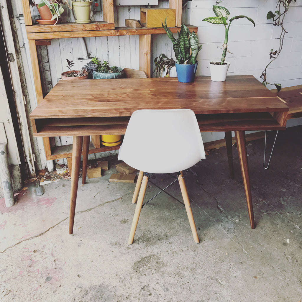 Image of: Open Mid Century Modern Desk Jeremiahcollection