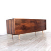 Low Walnut Mid Century Media Console - JeremiahCollection - 3
