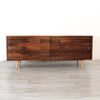 Low Walnut Mid Century Media Console - JeremiahCollection - 2
