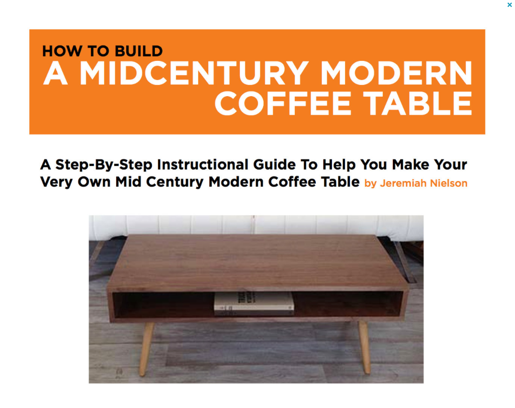 Plans To Build Your Own Classic Mid Century Coffee Table!!    JeremiahCollection   1