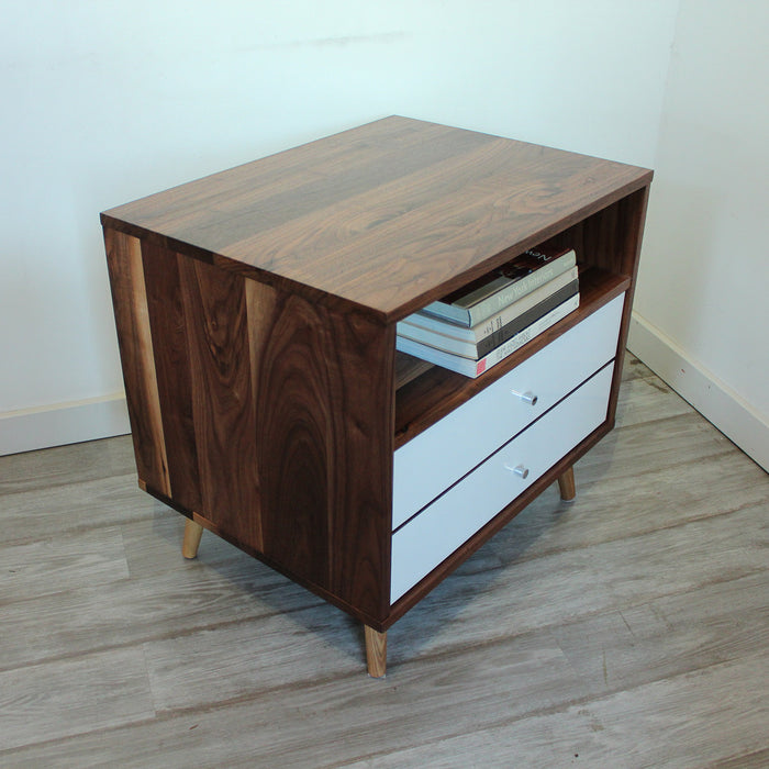 Mid Century Bedside Table with Two Drawers - JeremiahCollection - 4