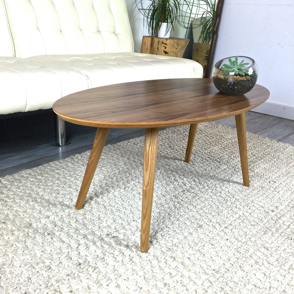 Mid Century Walnut Surfboard Coffee Table   JeremiahCollection