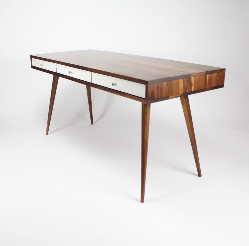 Image of: Mid Century Desk With Cord Management Jeremiahcollection