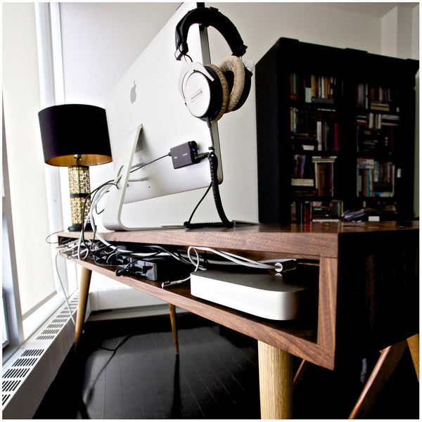 mid century desk with cord management jeremiahcollection. Black Bedroom Furniture Sets. Home Design Ideas