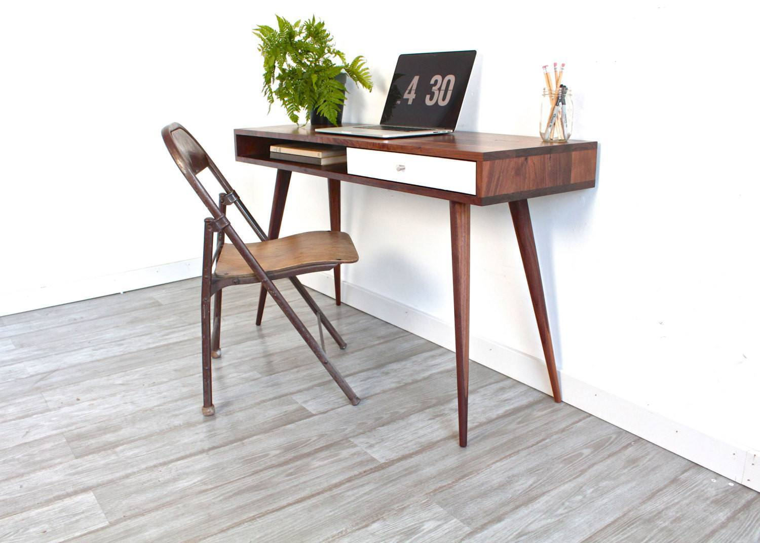 Image of: Mid Century Modern Laptop Desk Entryway Table Jeremiahcollection
