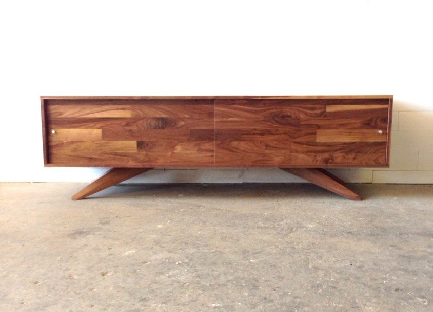 Low Divisadero Media Storage Console Floor Sample - JeremiahCollection - 1