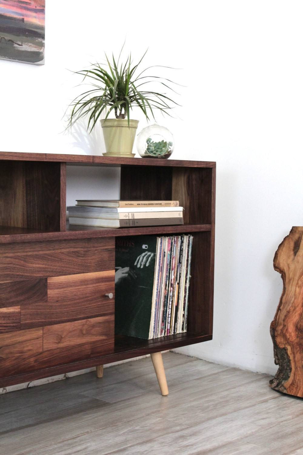 Mid Century Record Storage Console - JeremiahCollection - 4