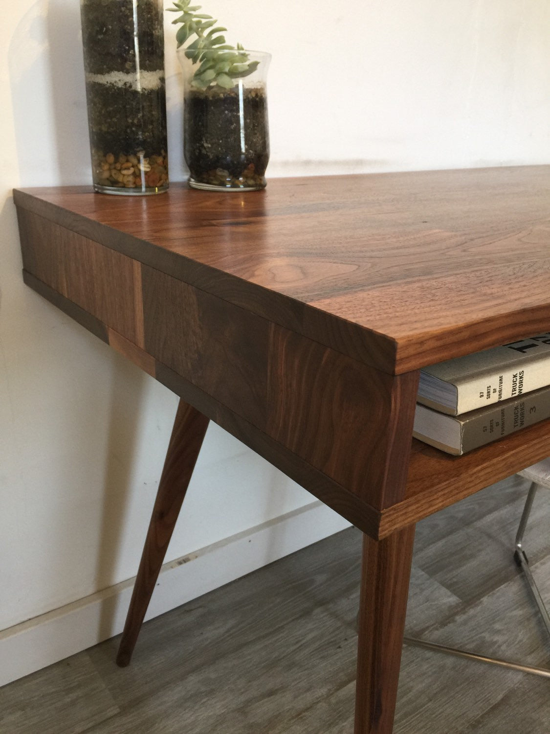 Open Mid Century Modern Desk - JeremiahCollection - 4