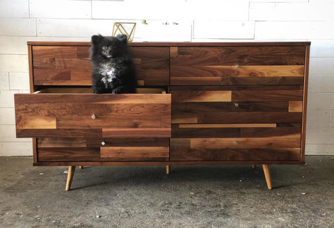 Mid Century Six Drawer Dresser - JeremiahCollection - 1