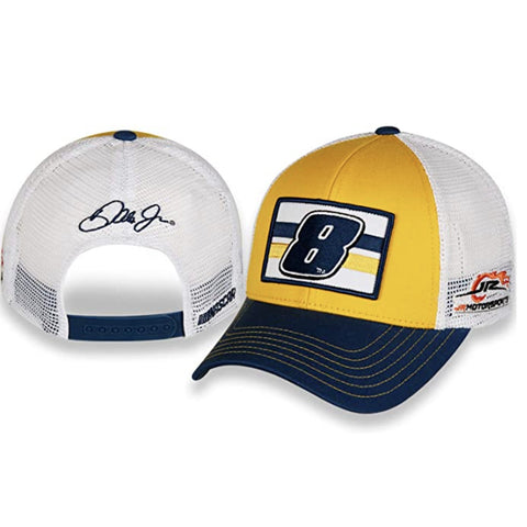 Dale Earnhardt Jr #8 Trucker Mesh Patch NASCAR Hat Hellmann's Colors Yellow