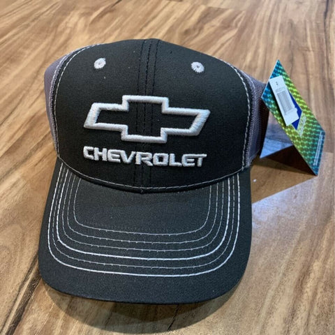 Chevrolet Outdoor Cap Unisex Trucker Hat Gray Snapback Embroidered One Size