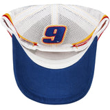 Chase Elliott #9 Racing Striped NASCAR 2020 Trucker Snapback Hat
