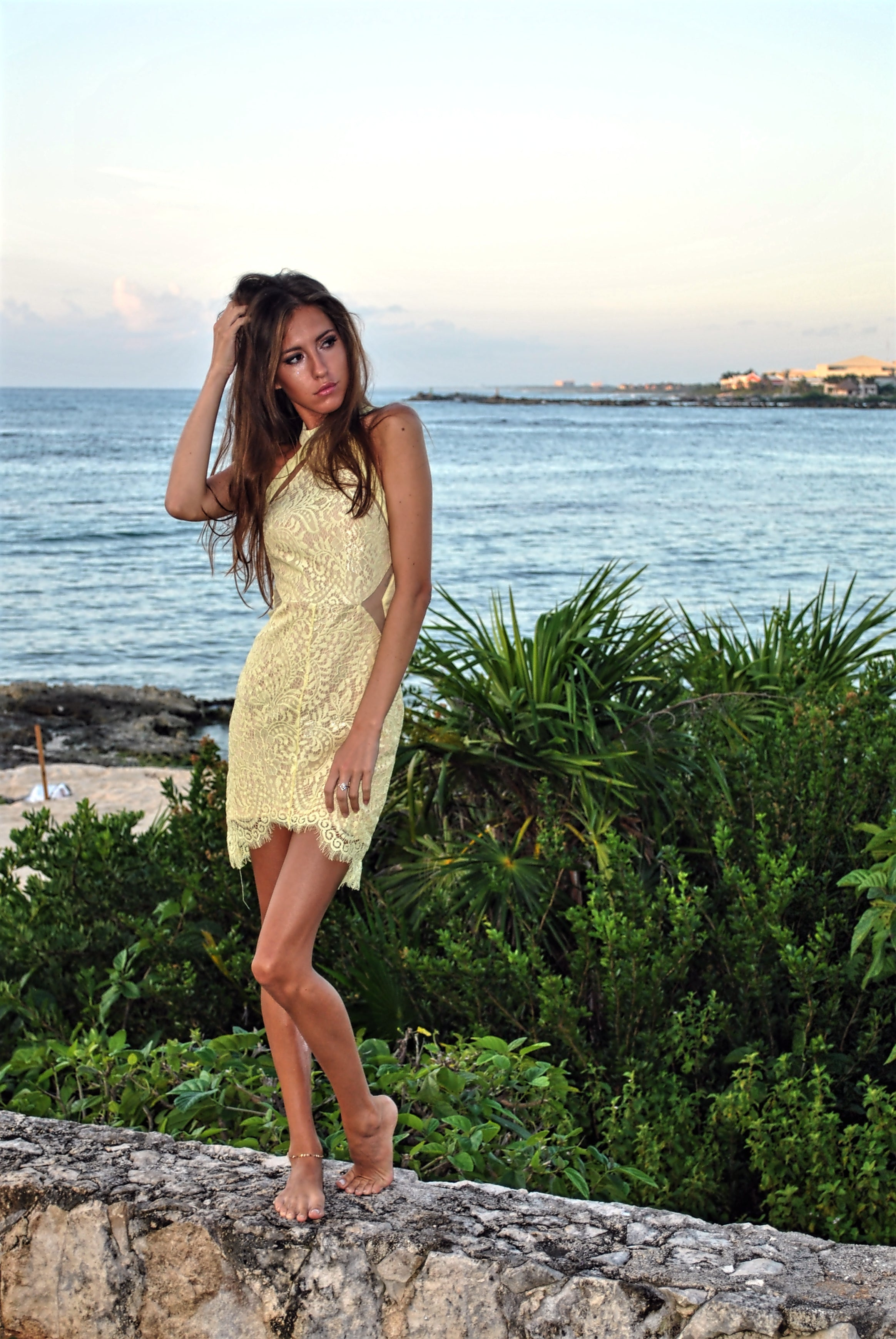 Swinging On A Star Lace Dress - The Laguna Room