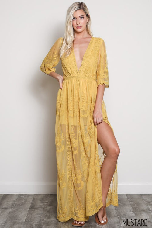 0c27fcdd741 On My Mind Lace Maxi Dress.   84.99. Time After Time Long Sleeve Maxi Dress  - The Laguna Room