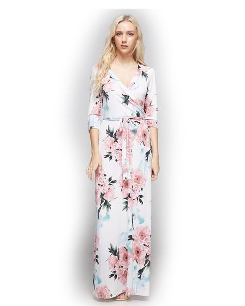 Treat Me Better Floral Maxi Dress - The Laguna Room