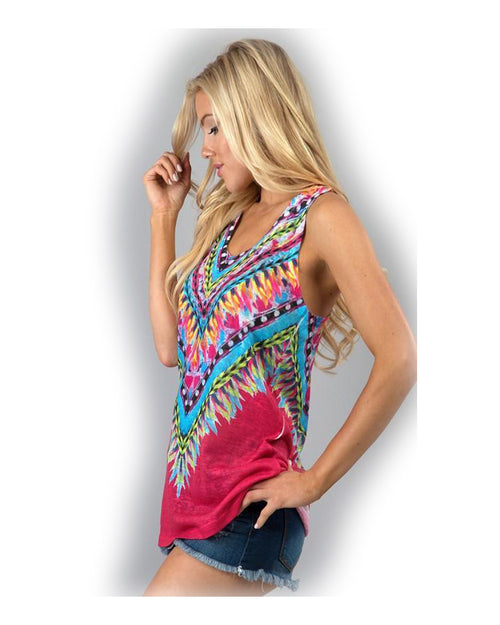 Turn It Down Burnout Tank Top - The Laguna Room