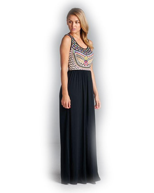 Walking On Air Abstract Maxi Dress - The Laguna Room