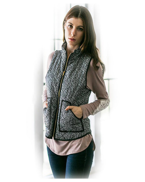 Wake Up Knit Gray Vest - The Laguna Room