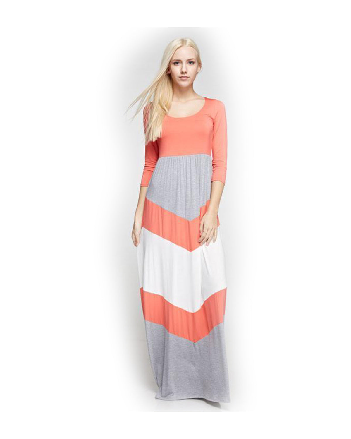 Why I Love You Chevron Maxi Dress - The Laguna Room