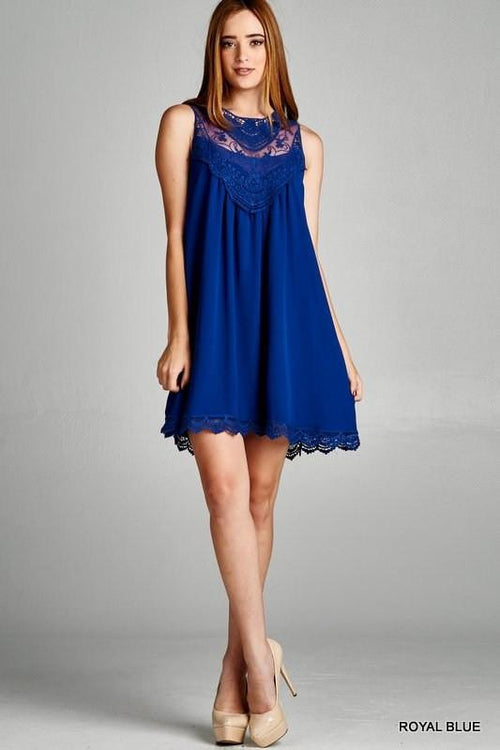 Come Back Here Lace Shift Dress - The Laguna Room