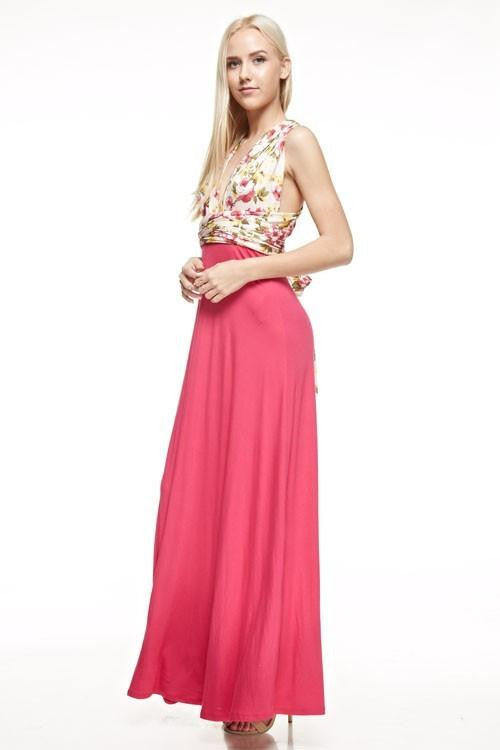 Against All Odds Floral Wrap Maxi Dress - The Laguna Room
