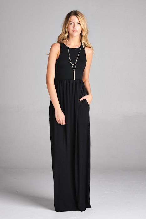 Simply Sweet Black Maxi Dress - The Laguna Room