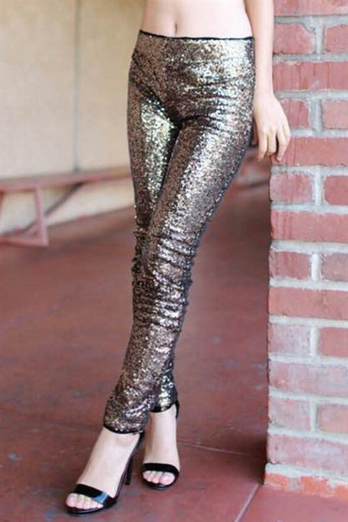 Black Magic Gold Sequin Pants - The Laguna Room