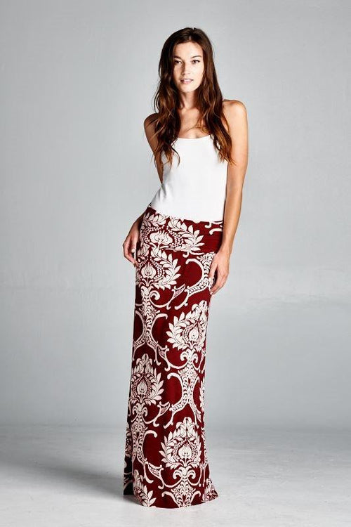 Free Love Printed Maxi Skirt - The Laguna Room