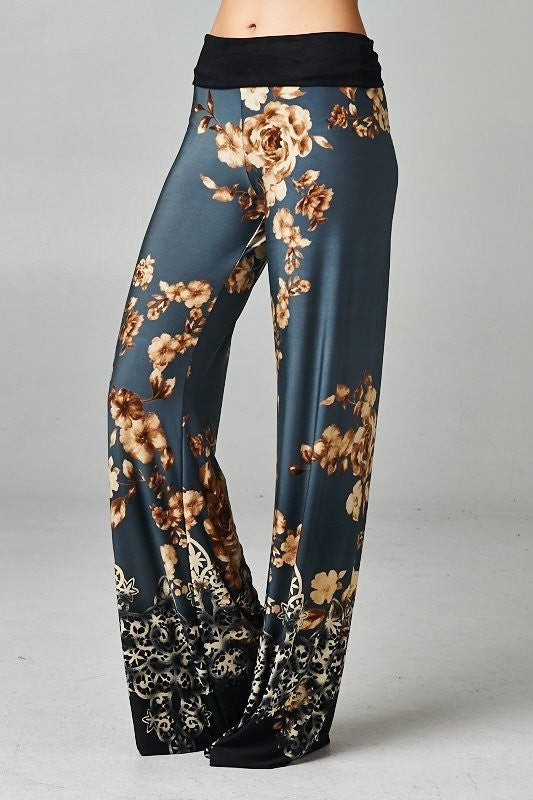 Going Undercover Floral Palazzo Pants - The Laguna Room