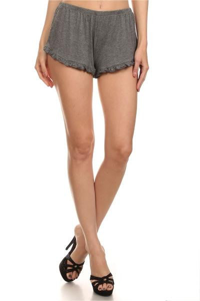 Take a Chance Ruffle Knit Shorts - The Laguna Room