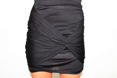 The Closer Knotted Black Skirt - The Laguna Room
