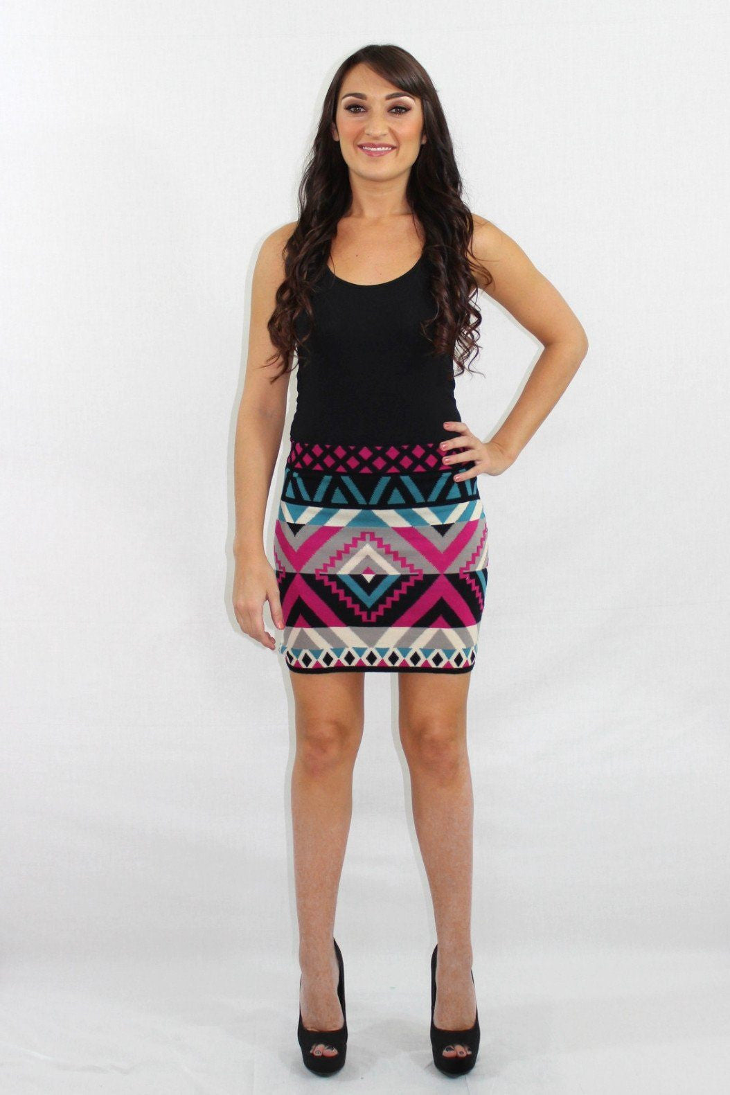The High Life Aztec Knit Skirt - The Laguna Room