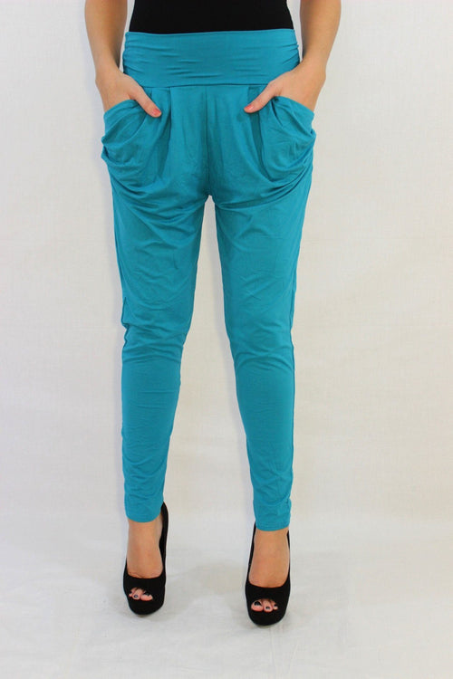 The Main Squeeze Teal Harem Pants - The Laguna Room
